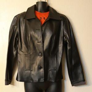 XOXO jacket Black faux leather long sleeve